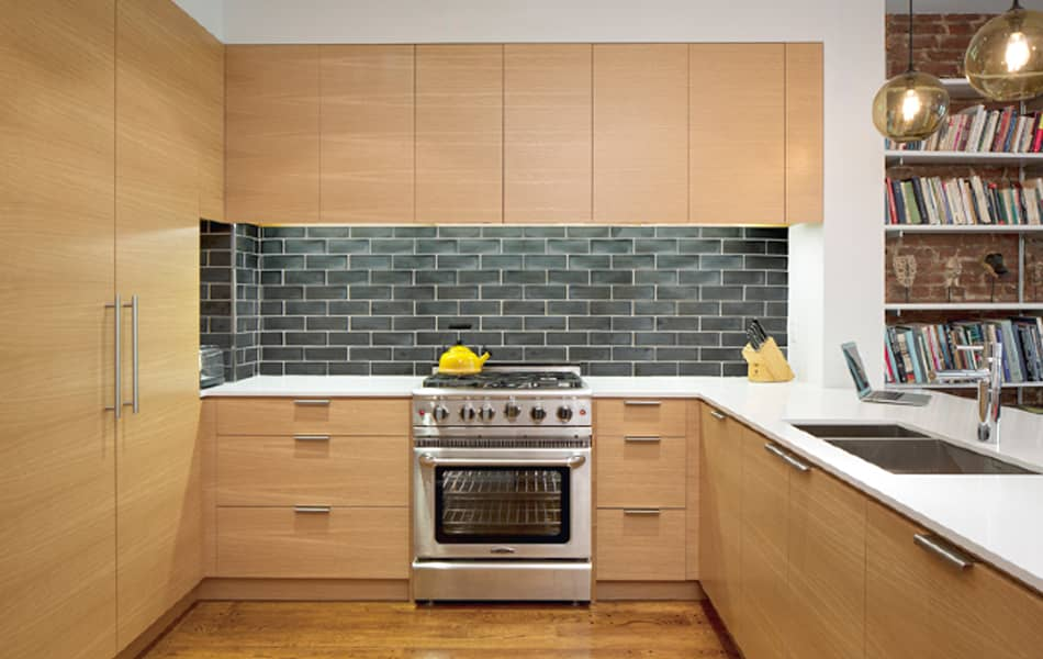 ModCraft dimensional Modern Tile meets NYC Brownstone Renovation